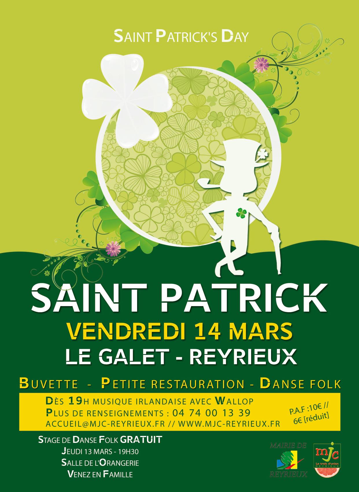 Soirée Saint Patrick - Concert et Bal Folk - 14 mars 2014 à Reyrieux