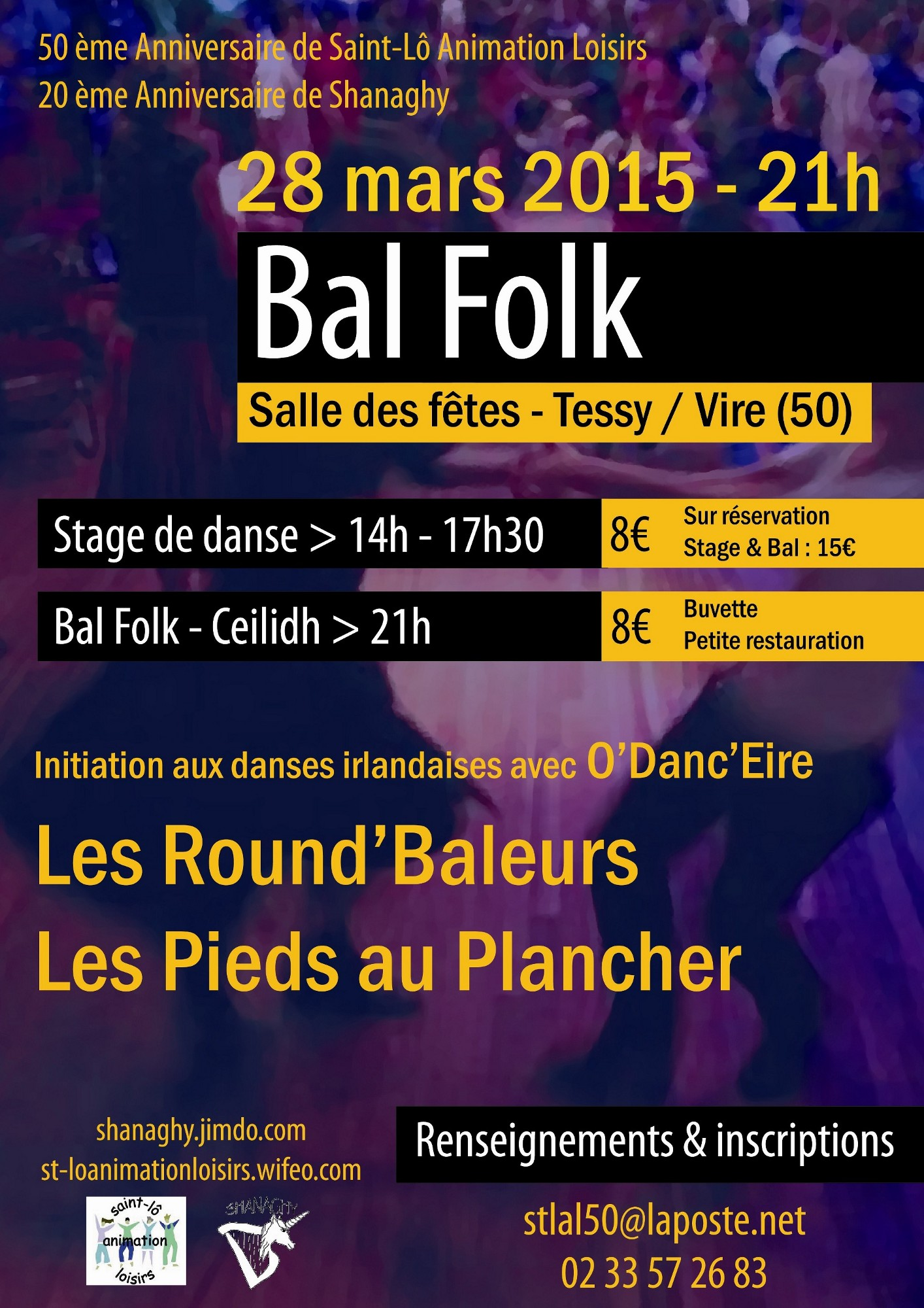 Affiche Bal folk bal folk / ceilidh à Tessy-sur-Vire