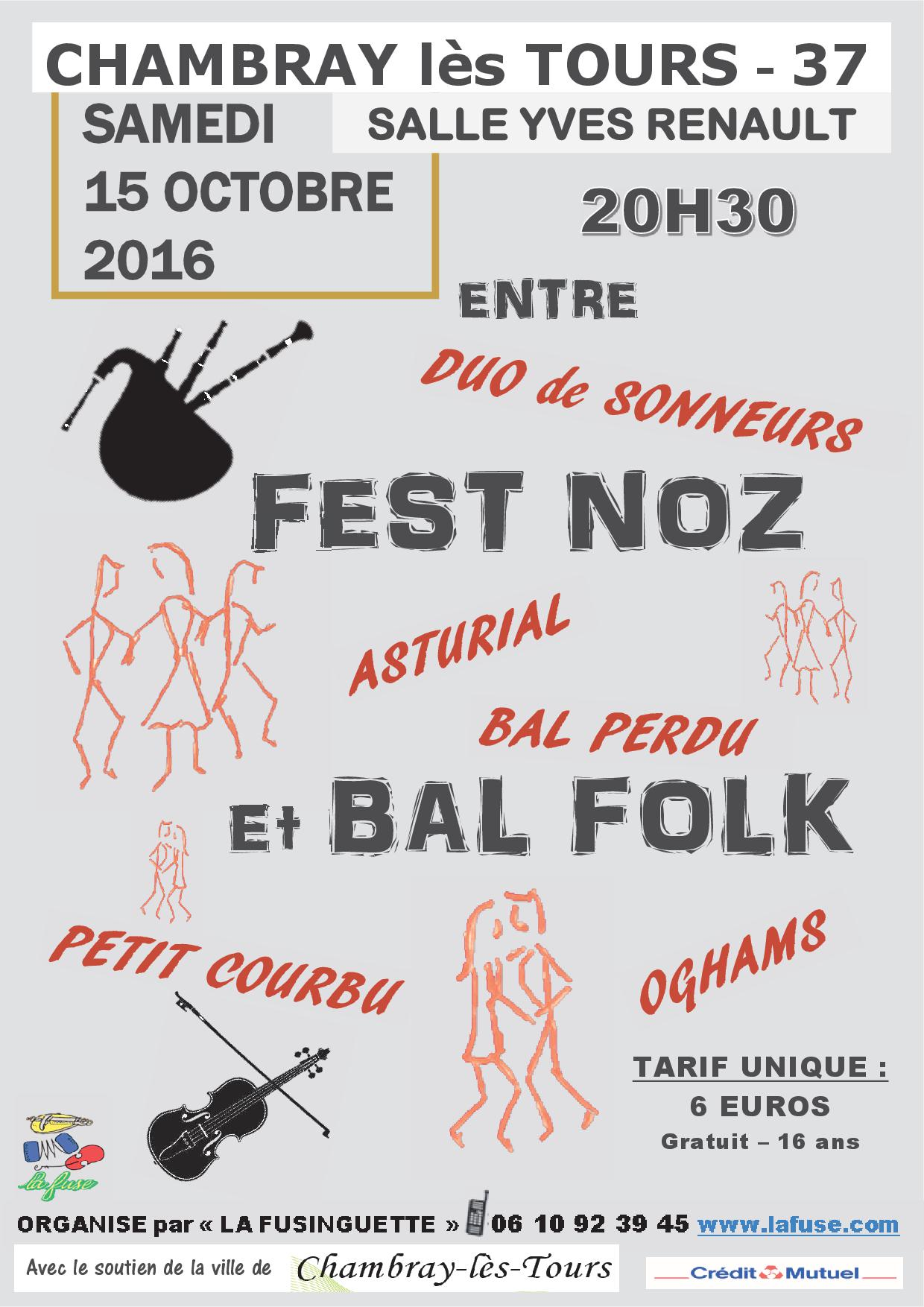 bal folk fest noz 15 octobre 2016 chambray l s tours. Black Bedroom Furniture Sets. Home Design Ideas