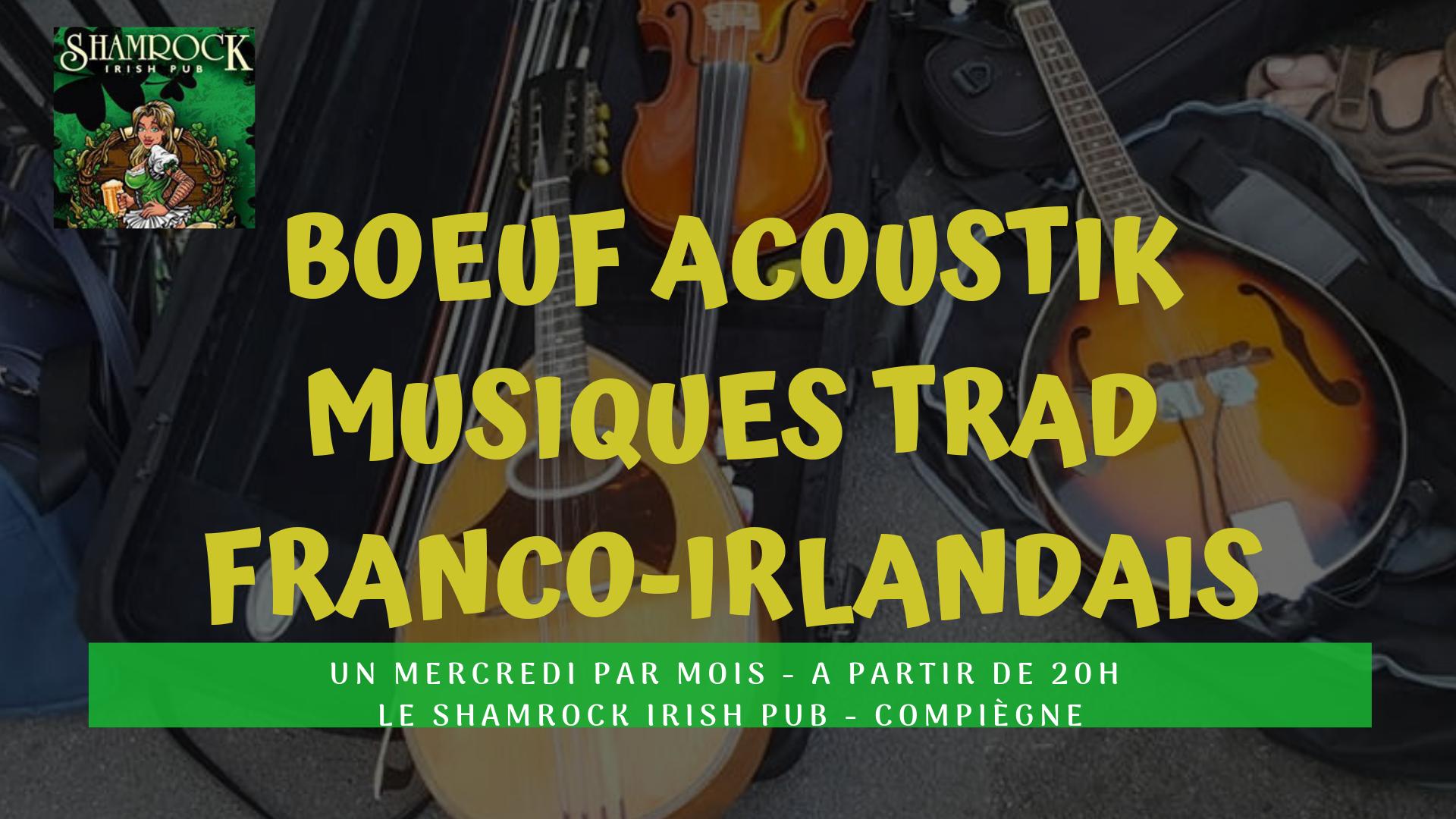 Affiche Musique traditionnelle bœuf Trad Accoustik à Compiègne